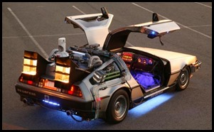 Get the Time Travelling DeLorean at your party