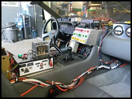 DeLorean Time Machine interior, time circuits and electronics
