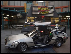 DeLorean Time Machine Car at Back to the Future The Ride - Universal Studios